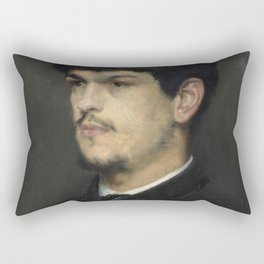 Claude Debussy (1862 – 1918) by Marcel Baschet, 1884 Rectangular Pillow