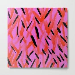Neon Pinks Metal Print