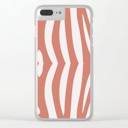 Zebra living coral pattern Clear iPhone Case