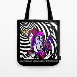 The Hatter with Alice Tote Bag