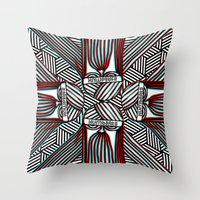 "harry Throw Pillows featuring ""Harry"" by humbeats_ec"