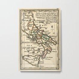 Vintage Map of Italy (1758) Metal Print