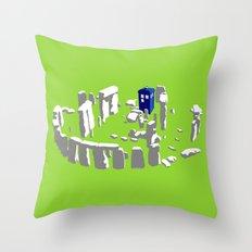 Stonehenge Tardis Throw Pillow
