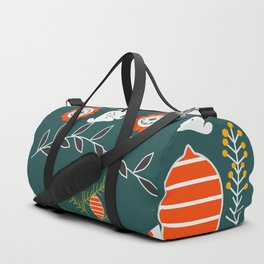 Winter holidays with bunnies Duffle Bag