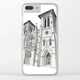 San Fernando Cathedral, San Antonio, TX Clear iPhone Case
