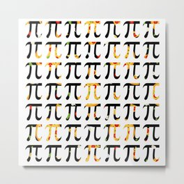 Pizza Funny Math Pun Pi Day Gift Math Science Lover Pi day Metal Print