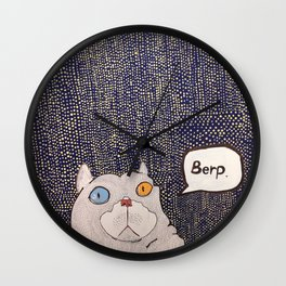Cruton the Cat Wall Clock