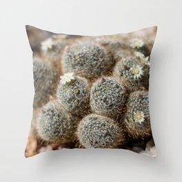 Cutesy Cacti Throw Pillow