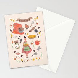 Cooking some cookies Stationery Cards