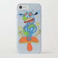 mushroom iPhone & iPod Cases featuring mushroom by Zura