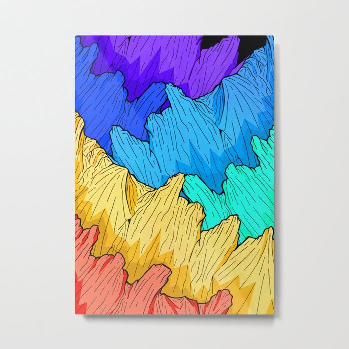 Rainbow Mounts Metal Print