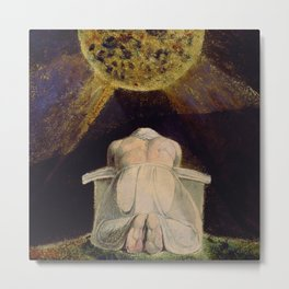 The song of Los, prayer, meditation, spirituality portrait painting by William Blake Metal Print