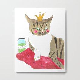 Catnip Powertrip Metal Print