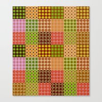 quilt Canvas Prints featuring quilt by Isabella Asratyan