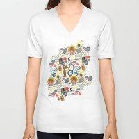 et V-neck T-shirts featuring ET! by Chris Piascik