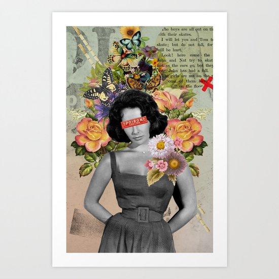 Public Figures - Liz Taylor Art Print