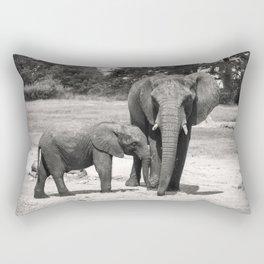 Elephant Mom & Baby Rectangular Pillow