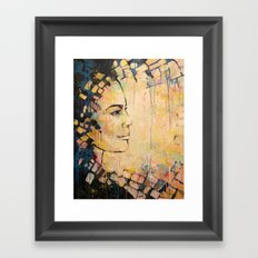 Looking to the Future -beautiful woman Framed Art Print