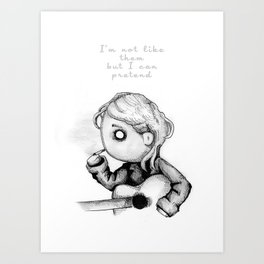 Kurt Plush Art Print