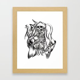 Santa Muerte Latim Collection Framed Art Print