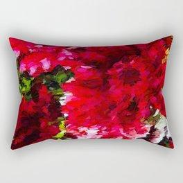Red Gerbera Daisy Abstract Rectangular Pillow