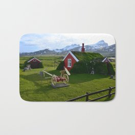 Lindarbakki Turf House in Borgarfjörður-Eystri in East-Iceland Bath Mat