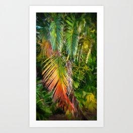 Palm Glow 2 Art Print