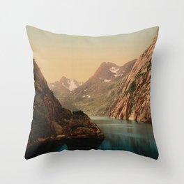 """""""Lofoten Trollfjord Norway"""" Throw Pillow"""