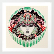 clam girl Art Print