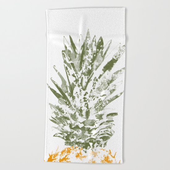 Pineapple Crown Beach Towel