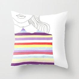Strippy Sweater Throw Pillow