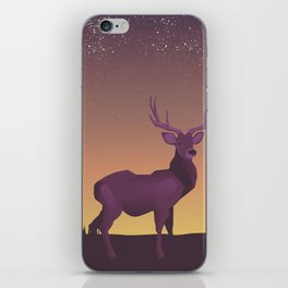 Stag in the sunset iPhone Skin