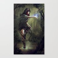 merida Canvas Prints featuring Merida by aStripedUnicorn