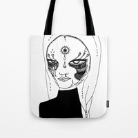 tulip Tote Bags featuring Tulip by Isabella Smith