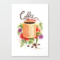 coffe Canvas Prints featuring Coffe Addict by Luana Mucci