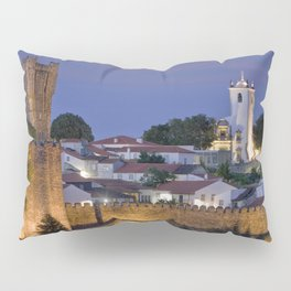 Braganca castle at dusk, Portugal Pillow Sham