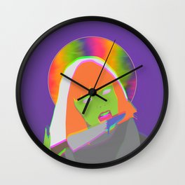 Neon Queen of Halloween Wall Clock