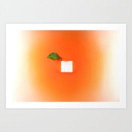 Orange out of the box Art Print