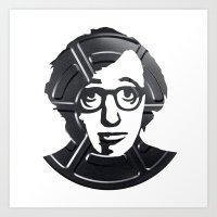 woody allen Art Prints featuring Woody Allen by Alejandro de Antonio Fernández