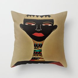 Ebony and Ivory Crown Throw Pillow