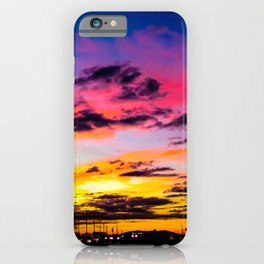 Sunset on Hwy 380 iPhone Case
