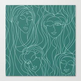 Green Ladies Canvas Print