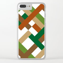 "Geometric Print ""Broken Weave"" Clear iPhone Case"