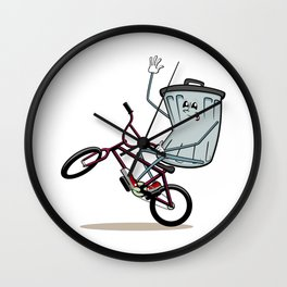 Wheelie Bin Wall Clock