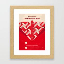 No913 My Captain Fantastic minimal movie poster Framed Art Print