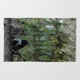Crow, the forest gate keeper Rug