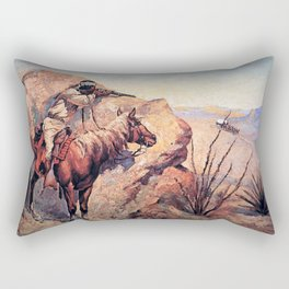 "Frederic Remington Western Art ""Apache Ambush"" Rectangular Pillow"