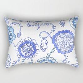 Paisley Beach Blue Rectangular Pillow