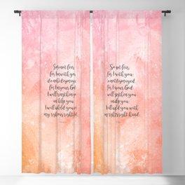 Isaiah 41:10, Uplifting Bible Verse Blackout Curtain