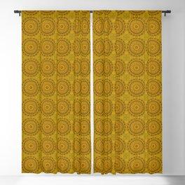 Golden Lace Mandala Pattern Blackout Curtain